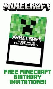 Birthday Invitations Printable Free Minecraft Birthday Invitations Personalize For Print And Evite