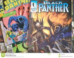 Black Panther Marvel Comics Superhero Editorial Image