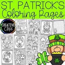 Patrick's day printable coloring sheets i found. St Patrick S Day Coloring Pages Writing Papers Creative Clips Clipart