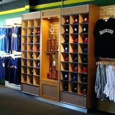 wall hat holder rack ideas for baseball caps and hang clothes organizer with cube wood shaped wall hat holder