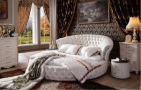 round bed furniture. Luxury Tufted Genuine Leather Round Bed Set For Bedroom (LB-001) Round Bed Furniture