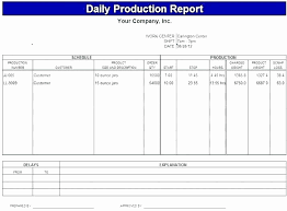 Daily Activity Report Template Excel Inspirational Construction