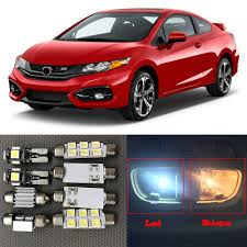 2015 Honda Civic Led Interior Lights 11pc White Auto Interior Led Light Bulbs Kit For 2013 2014 2015 Honda Civic Canbus Led Map Dome Trunk License Plate Light Lamp