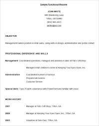 Functional Resume Templates Free Download Best Sample Functional