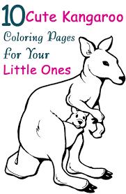 Small Picture Top 10 Free Printable Kangaroo Coloring Pages Online Kangaroos