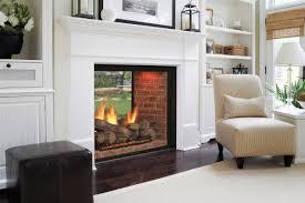 indoor outdoor wood fireplace