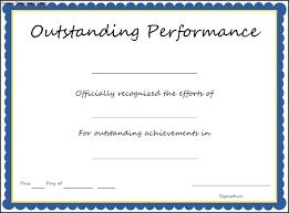 Performance Certificate Sample Ideas Collection For Certificate Of Performance Template