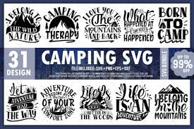 You can use our images for unlimited commercial purpose without asking permission. Camping Bundle Vol 1 Graphic By Printablesvg Creative Fabrica