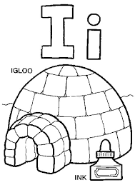 Small Picture Igloo Represent Letter I Coloring Pages Bulk Color