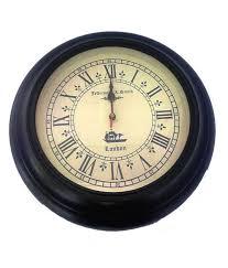 smith london black wall clock