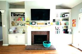 tv over the fireplace wall mount fireplace decorating ideas for wall mounted over fireplace