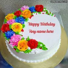 Write Name On Birthday Cake And Cards