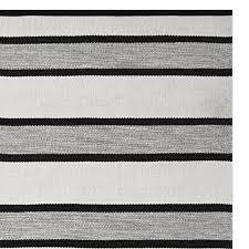 black perennials awning stripe indoor outdoor rug black