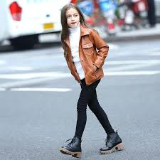 leather jacket for teens fashion brown faux teenage girls spring autumn outerwear size from reliable leather jacket for teens black girls
