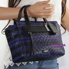 NWT Coach Bleecker Embossed Woven Leather Mini Riley Carryall Bag 31001 NEW  RARE