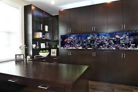 office fish tank. Built In Fish Tank Orange County With Stainless Steel Appliance Pulls Home Office Contemporary And Dark Cabinet Filter