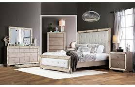 Ailey Bedroom Furniture With Mirrored Accents