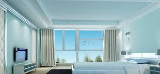 Light Blue Bedroom Rendering Neoclassical Design