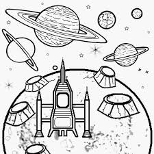 Space+coloring+NASA+astronomy+fun+activities+for+kids+printable+big+rocket+on+moon+surface+crater free coloring pages printable pictures to color kids drawing ideas on space worksheets for kids