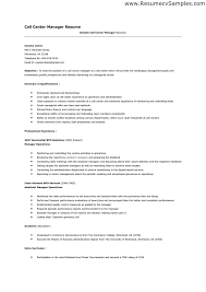 Call Center Resume Examples Meloyogawithjoco Custom Example Of A Call Center Resume