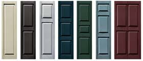 Mid America Shutters Color Chart Mid America Vinyl Outdoor Exterior Shutters