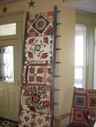 DIY Quilt Ladder || Gluesticks Blog | Make It! (DIY, not sewing ... & Great way to display quilts. On a picket-fence ladder! - by continually  crazy: Where it all began. Adamdwight.com