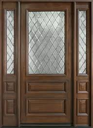 classic series mahogany solid wood front entry door single with 2 sidelites db