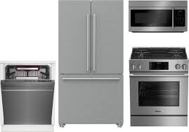 Black Kitchen Appliance Package Blomberg 4 Piece Kitchen Package With Bgr30420ss Gas Range