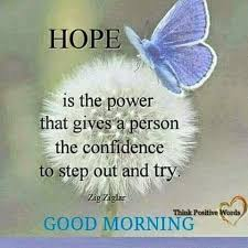 Good Morning Hope Quotes Best of Good MorningHope Is The Power That Gives A Person The Confidence