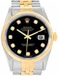 men s certified pre owned watches rolex datejust automatic self wind mens watch 16233 certified pre owned