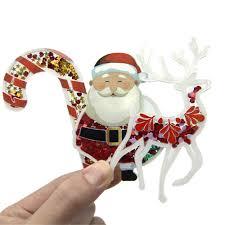 Light Up Acrylic Cane Shaker Christmas Bundle 10pcs Set Acrylic Flat Back Planar