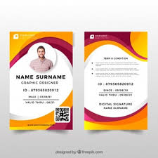 Identity Card Design Id Card Vectors Photos And Psd Files Free Download