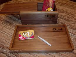 Letter Tray Decorative Rolling tray and wood stash box glass bowl box smoking bowl box 24