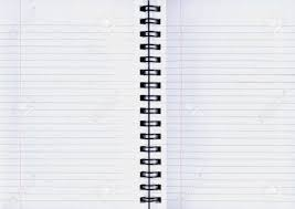 notebook pages with spiral binding in the middle stock photo 507399