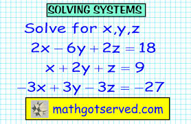 how to solve solving systems of 3x3 equations part i three variables