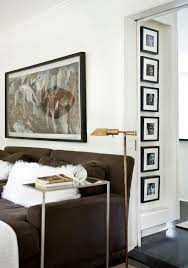 collage photo frame 5x7 living room contemporary with white wood black and white photography dark floor