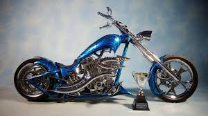 download wallpaper 3840x2160 chopper bike blue airbrush 4k