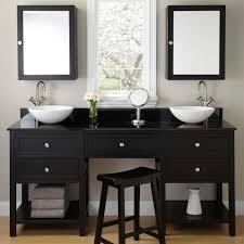 Double Bathroom Sink Cabinet 30 Bastian Teak Vessel Sink Vanity Rustic Brown Kid Vessel
