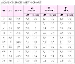Women S Shoe Width Chart Pin By Georgia Justice On Shoe Ideas Women Shoes Fashion