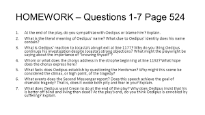 english ii to ppt video online  homework questions 1 7 page 524