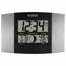 cool digital wall clocks magnificent la crosse technology digital atomic wall clock reviews wayfair
