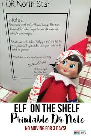 Elf On The Shelf Printable Doctor's Note - A Few Shortcuts