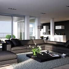moden living room  beautiful brown leather sofas living room
