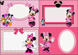 minnie mouse in pink printable invitations labels or cards minnie mouse in pink printable invitations labels or cards