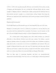 solution a to word essay discussing the differences  a 700 to 1 050 word essay discussing the differences and similarities between the conceptsof disparity and discrimination