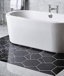 hexagon carbon infusion polished tile