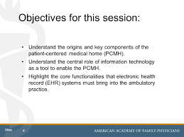 Ehr Functionality And The Patient Centered Medical Home