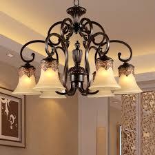 fashion iron lamps resin lighting glass shade cheap chandelier light led lighting 18112 6hd cheap chandelier lighting