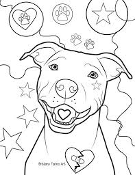 Pitbull Coloring Page Coloring Page Tattoo Puppy Coloring