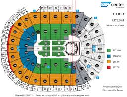 3d Seating Chart San Jose Sharks 28 Bright Sap Center Concert Seating Chart 3d